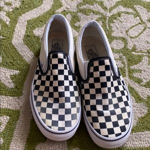 Checkered off white vans